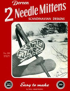 Two Needle Mittens Scandinavian Designs | Volume 105 | Doreen Knitting Books | Original Copyright 1954