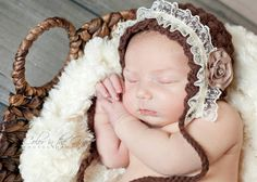 Crochet Pattern for Vintage Star Baby Bonnet Hat - 7 sizes, baby to child - Welcome to sell finished items - pinned by pin4etsy.com