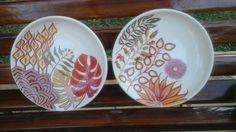Pratos com 21 cms - desenho moderno