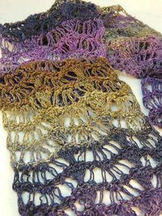 Lace Waves Crochet Scarf | AllFreeCrochet.com