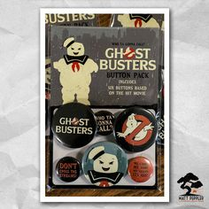 Ghostbusters Button Pack 6 Buttons Based On The by MattPepplerArt