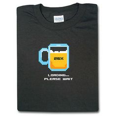 Optimize your Liquid Throughput  Don this shirt to declare youre a geek and you love loading up on beer with this lo-res image that gets lower-res the more you drink.