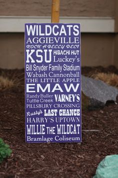 K-State!...I live here, and none of this is familar...check...learn what this all means before pcsing