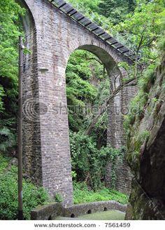 ancient arch bridge in locarno, switzerland Arch Bridge, Brooklyn Bridge, Wonderful Places, Switzerland, Paths, Around The Worlds, Explore, Bridges, Travel