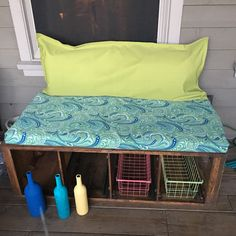 From old file cabinet to outdoor bench!