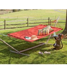 Olefin Fabric Hammock And Steel Stand Set in {productContextTitle} from {brandTitle} on shop.CatalogSpree.com, your personal digital mall.