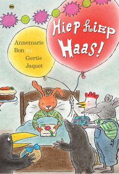Een feestelijk prentenboek: Hiep hiep Haas!