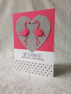 Card critters bird birds MFT flamingo die-namics MFT tickled pink, flamingos dies, critter sketch