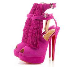 Christian Louboutin scarpe rosa shocking