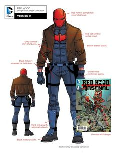 DC Rebirth Character Designs: Red Hood Version - Art by Giuseppe Camuncoli Comic Book Characters, Comic Character, Comic Books Art, Character Design, Comic Art, Cosplay Characters, Character Sheet, Fictional Characters, Dc Rebirth