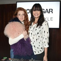 Pin for Later: Nicola Roberts and Daisy Lowe Raise the Roof at the POPSUGAR x ShopStyle Party