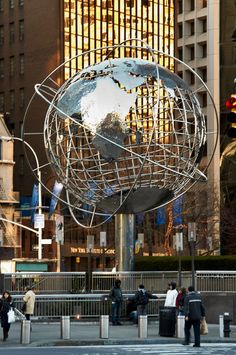 Globe Sphere outside Trump Towers. Columbus Circle, New York, New York. #NYC