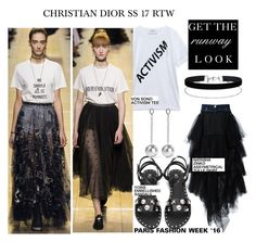 """PFW '16- Christian Dior SS 17 RTW..."" by nfabjoy ❤ liked on Polyvore featuring Von Sono, Christian Dior, Natasha Zinko, Isabel Marant, Miss Selfridge, PFW, fashionWeek and runwaytrends"