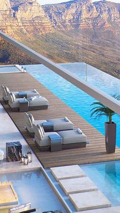 149 the best home terrace design that you should try at home - page 1 > Homemytri. Indoor Swimming Pools, Swimming Pool Designs, Villa Interior, Pool House Decor, Modern Villa Design, Modern Pools, Terrace Design, Dream Pools, Mansions Homes