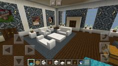 Minecraft Guest bedroom My Mansion Château Minecraft, Modern Minecraft Houses, Minecraft Mansion, Minecraft Blueprints, Minecraft Crafts, Minecraft Buildings, Minecraft House Tutorials, Minecraft House Designs, Minecraft Tutorial