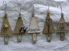 burlap tree ornaments