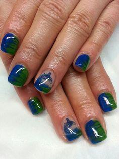 Steelheads instead of Canucks.or Penguins! Hockey Nails, Hockey Teams, Penguins, Nail Designs, Nail Art, Nail Desings, Penguin, Nail Arts, Nail Art Designs