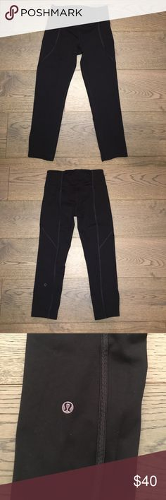 Lululemon Leggings Inched lululemon leggings. Size 4. Good condition lululemon athletica Pants Leggings