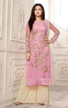 Alluring Pink Palazo Salwar Kameez