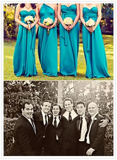 teal satin bridesmaids gowns..tart infinity dress done right, $79