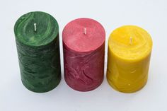 Each candle is crafted in the traditional way; they are kneaded and formed using manual tools only