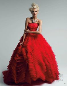 Anja Rubik in the pages of Vogue Japan - May 2012 - wearing Christian Dior spring couture 2012 (click here to see all the photos)