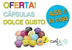 Oferta en #cápsulas #DolceGusto...todas a 4,55 € la caja