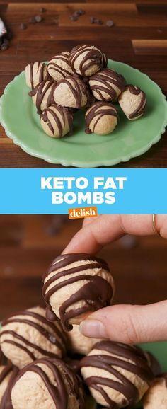 Cream Cheese & Peanut Butter Keto Fat Bombs #Fat