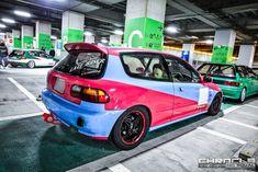 Civic Eg, Honda Civic Coupe, Social Media Outlets, Honda Cars, Magazine Ads, Gas Station, Late Nights, Osaka, Custom Cars