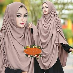 Khimaar Moslem Fashion, Arab Fashion, Womens Fashion, Hijab Abaya, Turban Hijab, Hijab Chic, Stylewe Dresses, Instant Hijab, Doek Styles