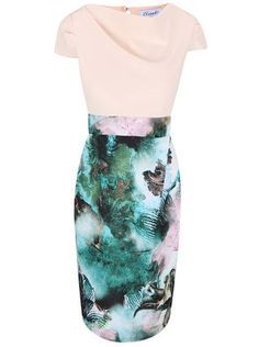 Closet - Krémové šaty s květinovým potiskem - 1