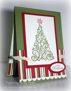 Carte de Noël : sapin stylisé