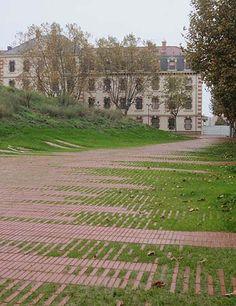 Tejido cerámico en el Jardín Niel, Toulouse