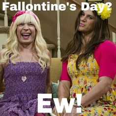 My best friend and I decided to celebrate Fallontine's Day. Here's the card I made her =]