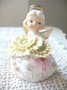 SALE Vintage November Birthday Angel Lefton by Vintagegirlsfinds On Sale ~ Reg. 34.00
