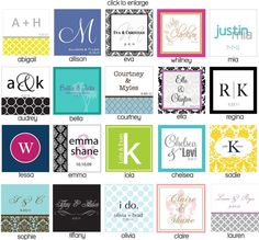 personalized napkins.  great source!