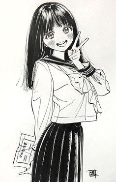 Manga Anime, Art Manga, Manga Artist, Anime Art Girl, Girls Manga, Manga Cute, Anime Sketch, Cute Drawings, Cute Art