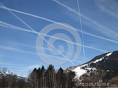 Photo about Lines made by flying planes. Image of flying, winter, mountain - 51366575 Fly Plane, Winter Images, Planes, Mountain, Stock Photos, Landscape, Pictures, Airplanes, Scenery
