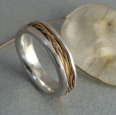 haystack  14 k gold and silver ring by sirenjewels on Etsy