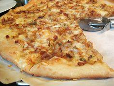 Fontina, Caramelized-Onion, and Pancetta Pizza Recipe
