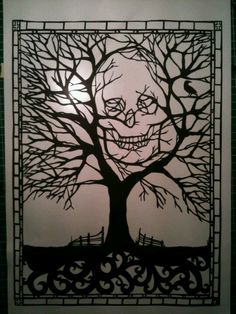Paper cutting tree