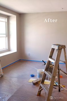 Painting Basement Walls With BEHR Wheat Bread,