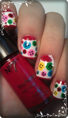 Image result for button nail art