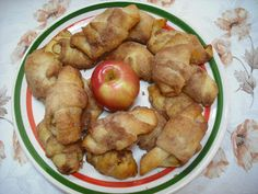 Apple Dumplings. So easy, crescent rolls, butter, cinnamon and sugar.  Bake 375 for 13 minutes.