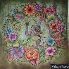 Totally in love!!!! @Regrann from @nat_tame_art  #selvamagica #johannabasfordmagicaljungle #coloringbook #artecomoterapia #arttherapie #coloring #coloriage#livrodecolorir#magicaljungle #johannabasford #marcorenoir #monkey #Regrann