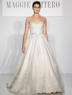 Love this elegant wedding dress by Maggie Sottero.