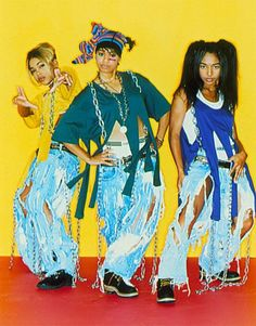 TLC - TBoz, Left Eye & Chilli (sp?) I used to play the crazy, sexy, cool album while in the shower from start to finish. Didn't care how freezing the water got, i LOVED that album. Love those girls!