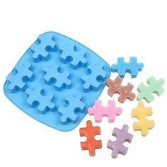 Silikonform Puzzleteil zum Backen oder für Eiswürfel
