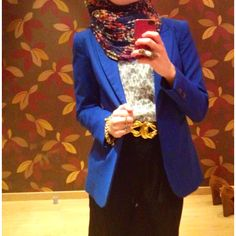 Hijab Fashion Skirt+blazer+top+hijab