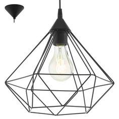 Lampa wisząca druciana Eglo Tarbes 1x60W E27 czarna  94188 - wysyłka w 24h